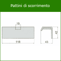 Pattini scorrimento